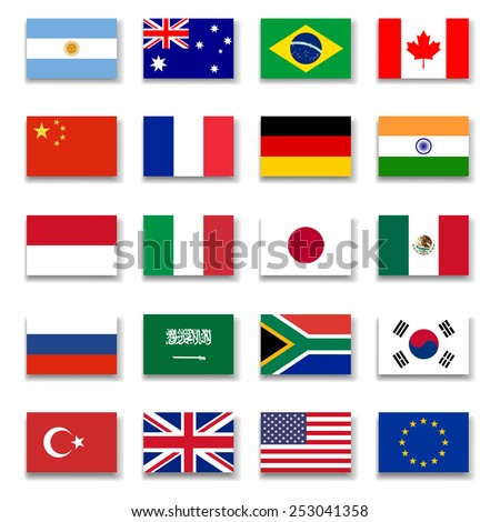 G-20 Group Flag Collection-Complete #253041358