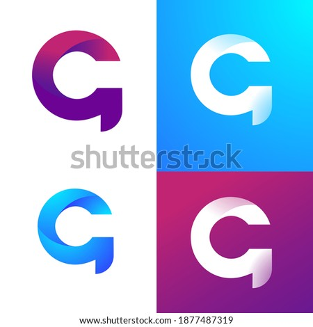 G Letter Design Modern logo. Letter Logo with Colorful and creative concept, G logo icon flat and vector design template.  Stock fotó ©