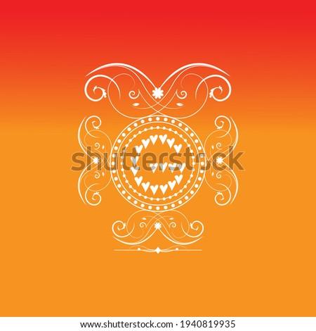 G letter initial luxury heart heaven font ornament monogram logo Stock fotó ©