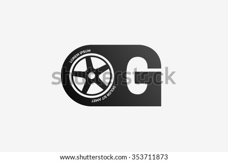 g letter logo  car wheel logo