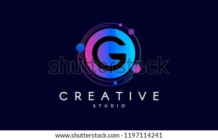 G letter logo design. Modern abstract background.