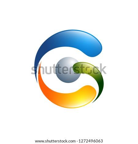 G letter logo design vector illustration template, G letter logo vector, creative Letter G letter logo