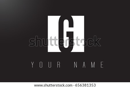 G Letter Logo With Black and White Letters Negative Space Design.