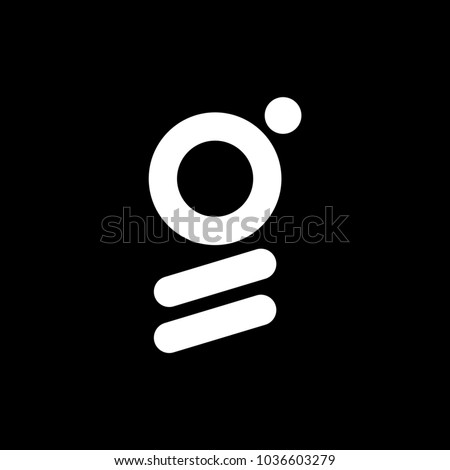 G logo abstract isolated in black. Stok fotoğraf ©