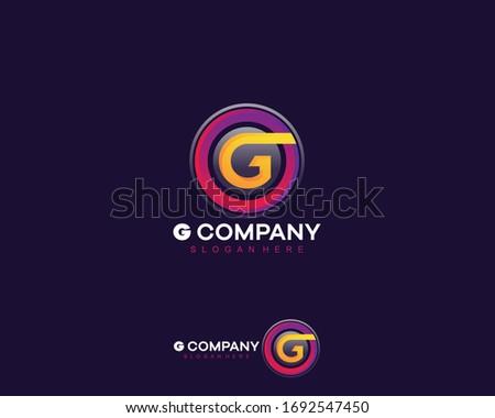 G Logo g Letter Design Vector Illustration Modern
