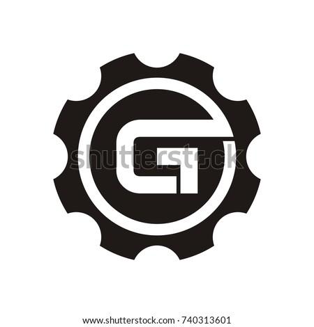 g logo initial letter design