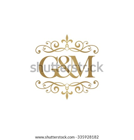 g m initial logo ornament