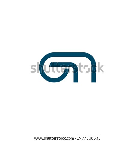 G N logo vector icon simple design  Foto stock ©