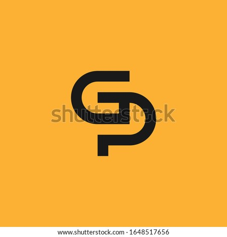 G & P monogram logo. Stock fotó ©