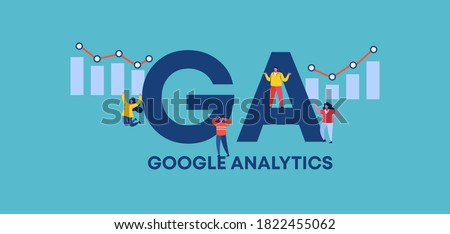 GA google analytics. Acronym of profitable trade and successful financial income distribution corporate business protection of retail product industrial loans and countering crisis vector.