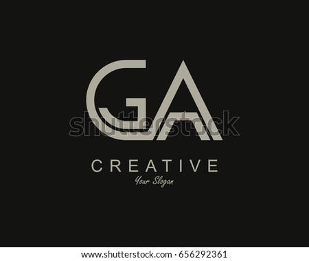 ga logo letter design vector