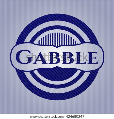 Gabble badge with jean texture