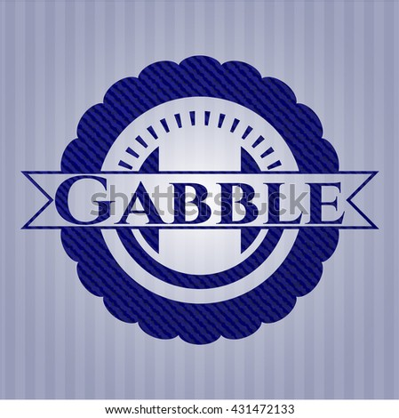 Gabble emblem with jean background
