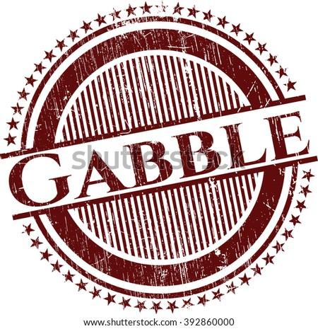 Gabble grunge stamp