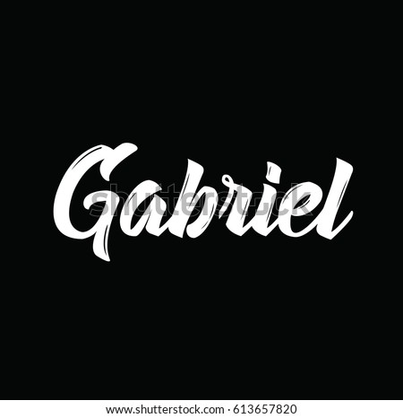 gabriel  text design vector