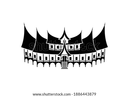 gadang house vector two level
