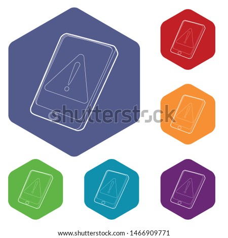 Gadget primary attention icon. Outline illustration of gadget primary attention vector icon for web design