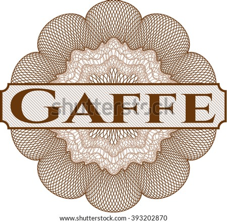 Gaffe abstract linear rosette