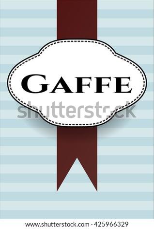 Gaffe card or banner