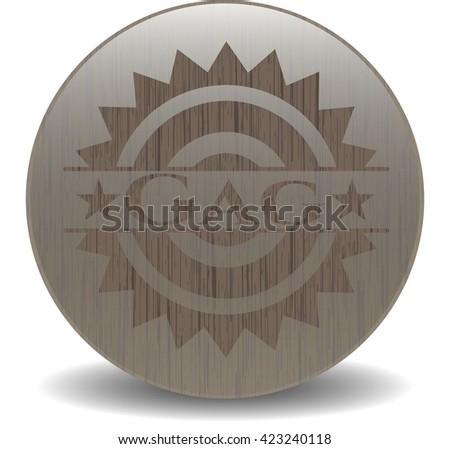 Gag retro style wood emblem