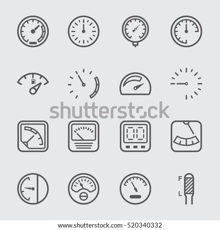 Gage and Meter line Icon