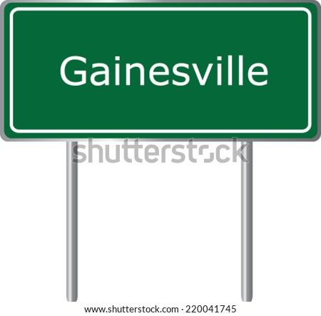 gainesville  florida  road sign