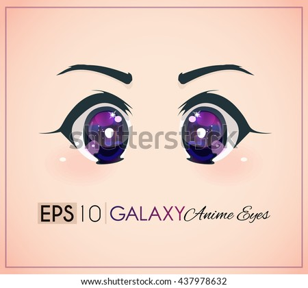 galaxy anime eyes