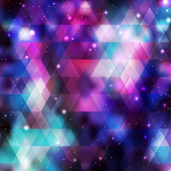 Galaxy background. Colorful vector illustration