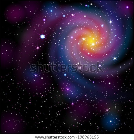 galaxy background eps 10 mask