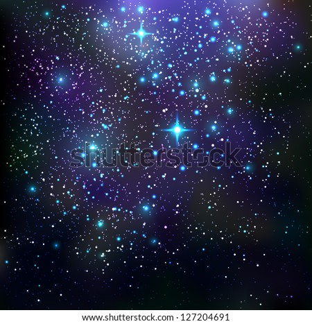 Galaxy background - vector illustration. - stock vector