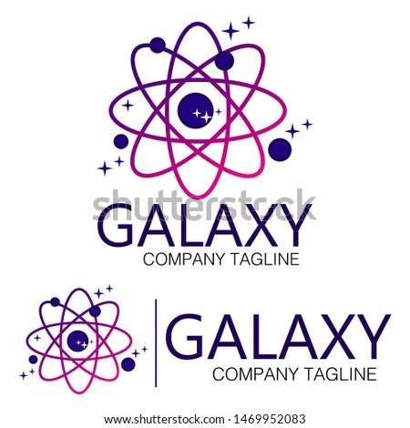 Galaxy logo Vector, galaxy tamplate, galaxy illustrations, stylish and modern galaxy