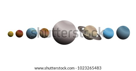 Galaxy planets illustration #1023265483