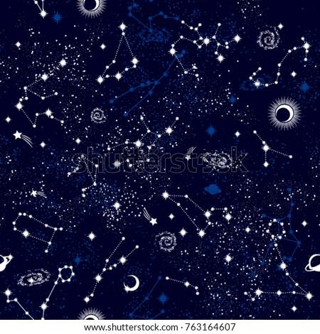 galaxy seamless pattern print