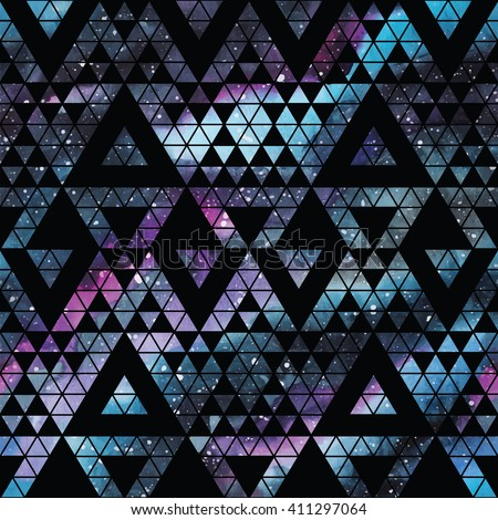 galaxy seamless pattern with