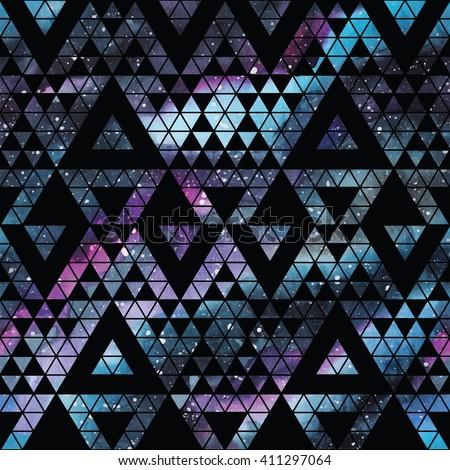galaxy seamless pattern with