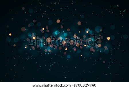 Galaxy Space bokeh background. Soft blur light effect wallpaper. Abstract background bokeh blurred. Shiny bokeh light effect. Vector illustration.