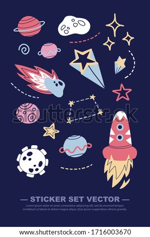 galaxy themed cute drawings for