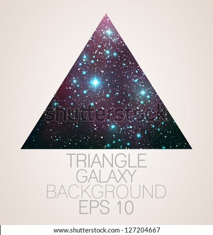 Galaxy triangle background - vector illustration.
