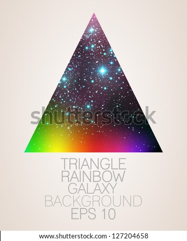 galaxy triangle rainbow
