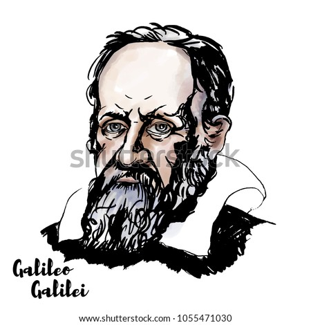 galileo galilei watercolor