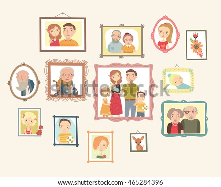 gallery of family portraits