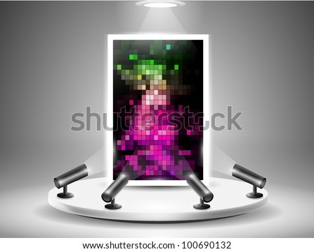 Gallery Picture Stand with Abstract Background