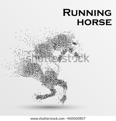 galloping horse particles