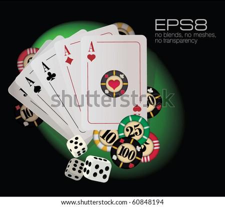 Gambling abstract. Vector.