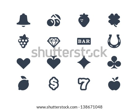 gambling and slot machine icons