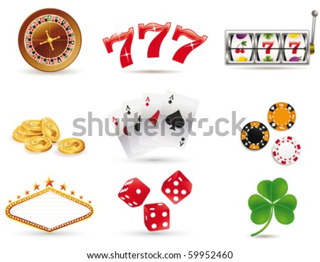 Gambling icons - stock vector