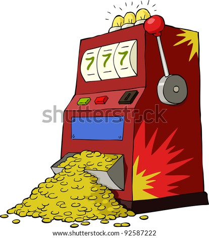 Gambling machine on a white background, vector
