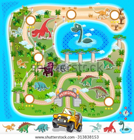 game assets prehistoric zoo map