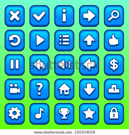 stock-vector-game-blue-square-interface-