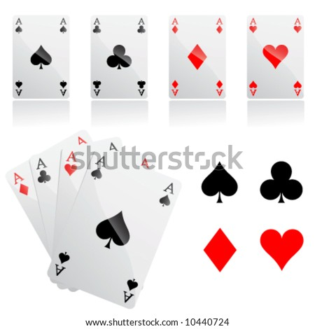 game cards vector - stock vector